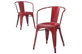 Galvanized Bistro Chair 10 Easy Pieces Red Café Chairs Gardenista