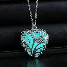 heart stone necklace pendants images Necklace pendant love cute heart stone glow luminous pattern jpg