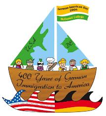 German American Flag German American Day Flag In Background