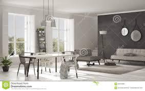 scandinavian living room with big windows garden panorama in ba