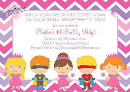 princesses u0026 superheroes birthday party invitation digital file