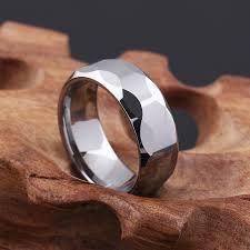 men rings style images 6mm pure tungsten steel men ring multifaceted simple style rings jpg