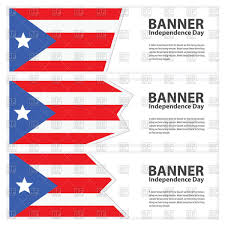 Flag Puerto Rico Puerto Rican Flag Banners Royalty Free Vector Clip Art Image