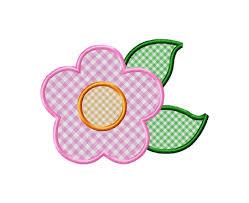 applique flower machine embroidery design