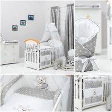 Cot Bedding Set 13 Pcs Exclusive Unisex Grey Bedding Set For Cot Bed Tidy