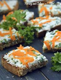 canapé cottage parsley and cottage cheese canapes recipe recipes
