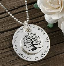Personalized Stamped Necklace Memorial Jewelry Memorial Necklace Remember Me Jewelry