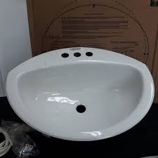 crane 1306v100 d shape drop in white bathroom sink milton wares