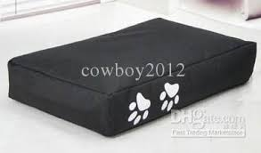 2017 solid black color waterproof doggie beanbag beds large size