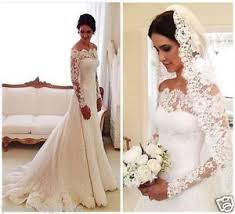 ivory lace wedding dress white ivory lace shoulder sleeve wedding dress