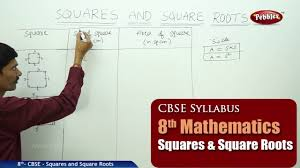 squares and square roots class 8th mathematics ncert cbse