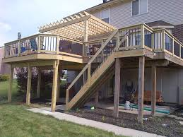 Deck Plans With Pergola by Best 25 Two Story Deck Ideas Ideas On Pinterest Two Story Deck