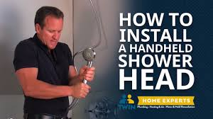 how to install a handheld shower head youtube