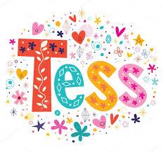 tess girls name decorative lettering type design u2014 stock vector