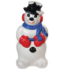 shop holiday time pre lit snowman sculpture with constant clear