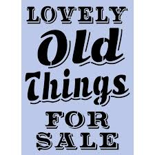 lovely things for sale stencil available in a3 or a4 size