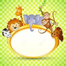 theme blank baby shower invitations jungle