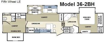 cardinal rv floor plans used 2008 forest river rv cardinal le 36 2bh fifth wheel at fun town