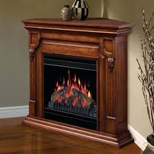 cherry wood corner electric fireplace convertible media black