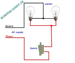 how to control 2 lamps bulbs by one way switch parallel circuit