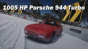 porsche 944 drift car blizzard peak hill climb 1989 porsche 944 turbo forza horizon 3