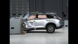 cx 9 2017 mazda cx 9 driver side small overlap iihs crash test youtube