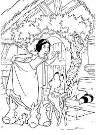 snow white dwarfs free coloring pages art