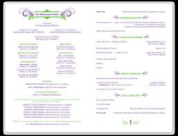 free sle wedding programs stunning catholic wedding program template free gallery styles
