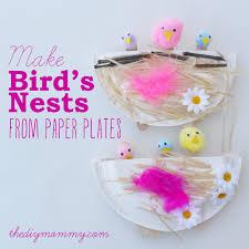 make a bird u0027s nest from a paper plate u2013 a kid u0027s craft the diy mommy