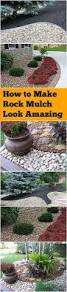 how to make rock mulch look amazing mulch landscaping outdoor