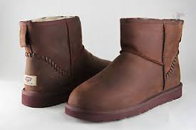 s ugg australia mini leather boots ugg australia mini deco leather boot 1003945 chestnut