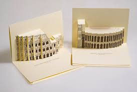 3d pop up postcards of italy