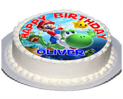 24 x transformers rice paper birthday cake toppers x 7 5 inch mario yoshi real icing topper