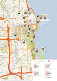 Chicago Map Art by Chicago Map Online Map