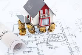Blueprint For House Residential House On Blueprint Symbol Photo For House Construction