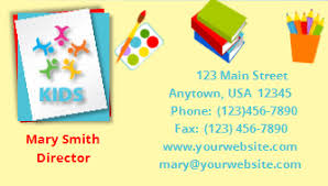 childcare business cards child care stationery set template 20 child care owner