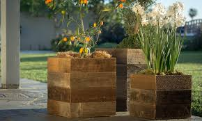59 off on reclaimed wood planter boxes groupon goods