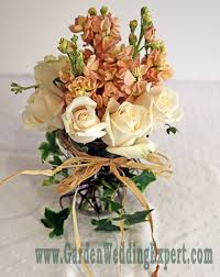jar flower arrangement jar arrangements garden wedding expert