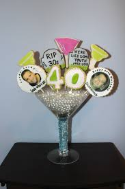 Centerpieces Birthday Tables Ideas by 40th Birthday Cookie Centerpiece Edible Centerpieces Pinterest