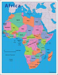 Blank African Map by Africa Reference Map Geography 200 Portfolio