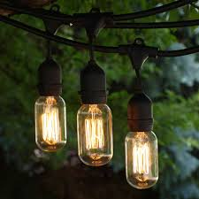 Outdoor Light String by Edison Style Vintage String Lights Outdoor String Lights