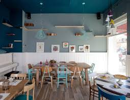 simple 30 blue cafe interior design decoration of interior cafe