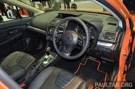 subaru crosstrek interior subaru xv crosstrek u2013 55 unit limited edition rm162k image 210078