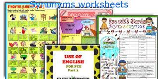 english teaching worksheets synonyms