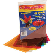 where to buy colored cellophane hygloss cello sheets 8 5 by 11 inch 48 pack