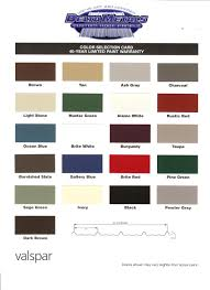 color chart qualitysteelroof com