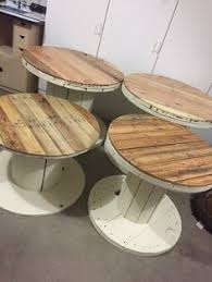 Cable Reel Table by Cable Reel Spool Table For Outside Large Wooden Spools