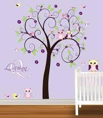 tree wall decals decal girls nursery vinyl tree wall decals decal girls nursery vinyl stickers flowers owls curl