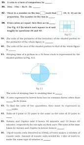 class 6 important questions for maths u2013 ratio and proportion