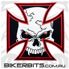 embroidered patches patch iron cross vire skull